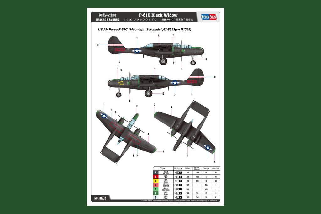 P-61C Black Widow 81732-1:48-HobbyBoss