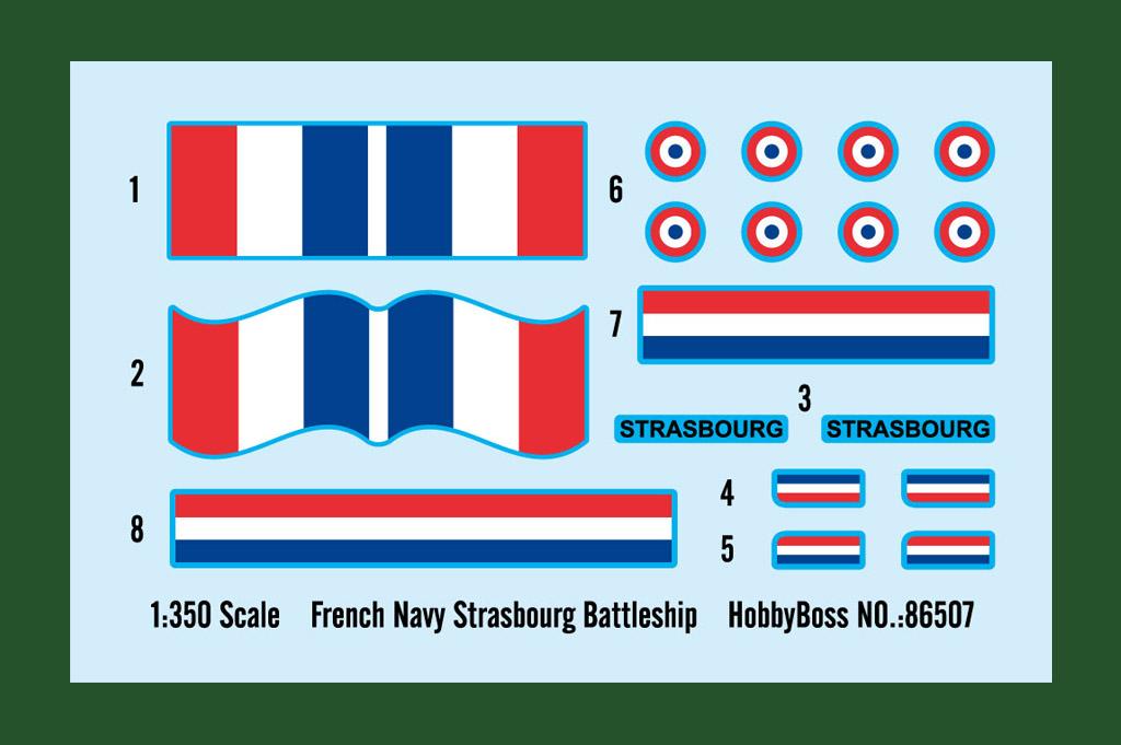 french navy strasbourg battleship 86507 1 350 hobbyboss. Black Bedroom Furniture Sets. Home Design Ideas